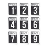 Price tag set vector labels black Stock Photography