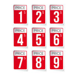 Price tag set vector labels Stock Photography