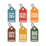Price Tag Set Vector Template Design Illustration stock illustration