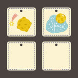 Price Tag with Space Cartoons vectors Set Stock Photography