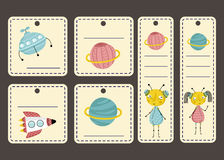 Price Tag with Space Cartoons vectors Set Royalty Free Stock Images