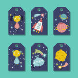 Price Tag with Space Cartoons vectors Set Royalty Free Stock Photos