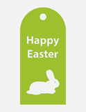 Price tag. Special Easter price tagwith a white bunny,  design, eps10 Royalty Free Stock Photography