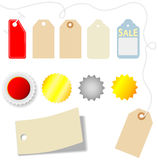 Price Tag Sticker sales Set Royalty Free Stock Photography