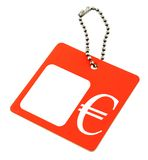 Price tag with ? symbol royalty free stock images
