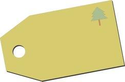 Price tag with tree Royalty Free Stock Photos