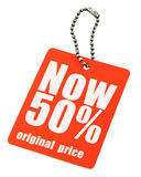 Price tag on white royalty free stock images