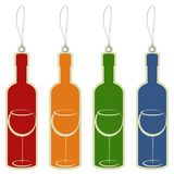 Price tag wine bottle Stock Photos