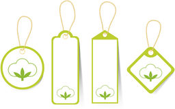 Price tags. The price tags for products from a cotton stock illustration