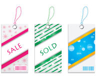 Price tags. Special winter price tags for your business Royalty Free Stock Photos