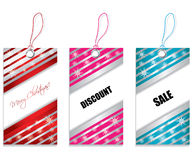 Price tags. With christmas design Royalty Free Stock Photos