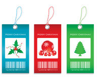 Price tags. With Christmas design Royalty Free Stock Photo