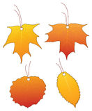 Price tags. Set of autumn leaf price tags Royalty Free Stock Images