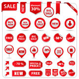 Price tags. Big set of price tags, ribbons and banners Stock Images