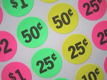 Price tags. Sticker price tags Stock Images