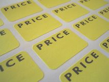 Price tags. Sticker price tags Royalty Free Stock Photo