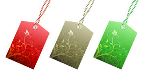 Price tags. Vector illustration Set of floral product price tags in 3 colors royalty free illustration