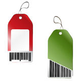 Price tags with barcode Stock Photo