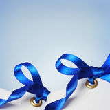 Price Tags with Blue Ribbons Stock Image
