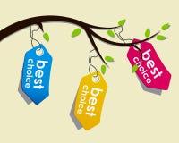 Price tags on branch. A Price tags on branch Stock Photo