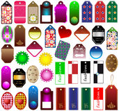 Price tags collection. Big set of assorted price tags for marketing and advertisement Royalty Free Stock Photo