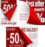 Price tags designg Royalty Free Stock Images