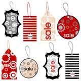 Price tags with different designs Royalty Free Stock Images