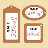 Price tags of different shapes. Royalty Free Stock Photography