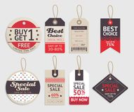 Price tags label design set. Vector. Price tags label design set. Vector illustration stock illustration