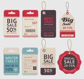Price tags label design set. Vector. Stock Images
