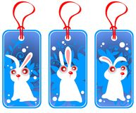 Price tags with rabbits Royalty Free Stock Photo
