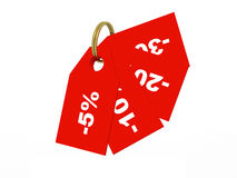 Price tags, red Stock Photography