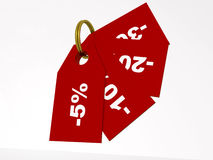 Price tags, red Royalty Free Stock Image
