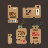 Price tags. Royalty Free Stock Images