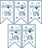 Price tags set Stock Photography