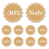 Price Tags. Set of price tags with discounts Stock Photography