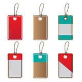Price tags set. On white background Royalty Free Stock Photo