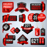 Price tags, special business offer labels and discount presentation banners vector set Stock Photo