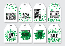 Price tags for the St. Patrick's Day Stock Photography
