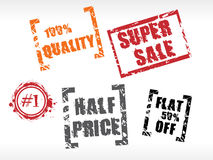 Price tags and stickers Royalty Free Stock Photos