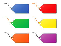 Price tags (vector). Set of colorful blank price tags isolated on a white background Royalty Free Stock Photography