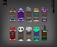 Price tags vector Halloween. Stock Image