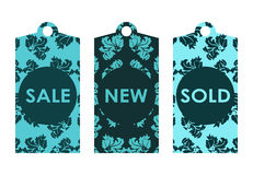 Price tags. With vintage design Stock Image