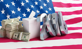 Price of the USA elections in 2016. Criminal penalties for bribing voters. Price of the USA elections in 2016 criminal penalties for bribing voters.3d Stock Photo
