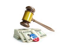 Price of the USA elections in 2016 criminal penalties for bribing voters. 3d Illustrations Royalty Free Stock Photos