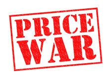 PRICE WAR. Red Rubber Stamp over a white background Royalty Free Stock Photography