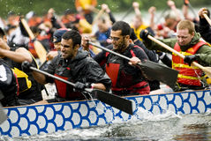 Price-Waterhouse-Coopers Dragon Boat racing at the Royalty Free Stock Photo