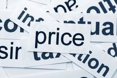 Price word cloud Royalty Free Stock Photos