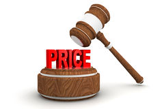 Price word and gavel Royalty Free Stock Image