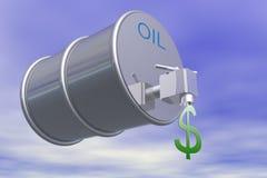 price2 oleju royalty ilustracja